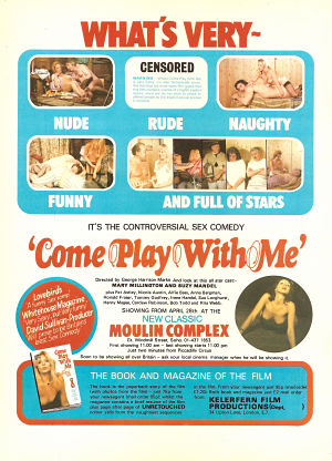 Come Play with Me Advert 1