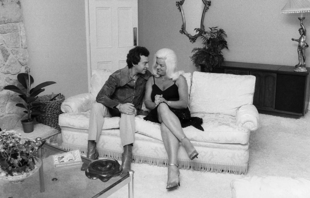 Diana Dors & Alan Lake at home